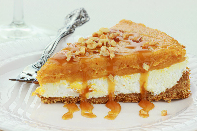 Double Layer Pumpkin Cheesecake Pie