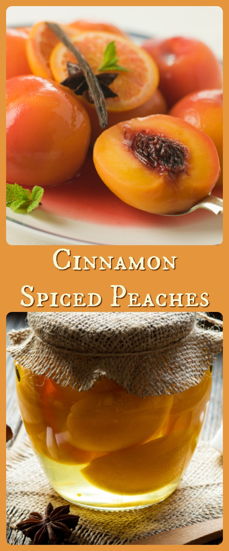 Serve old fashioned, homestyle cinnamon spiced peaches with all your celebration meals.