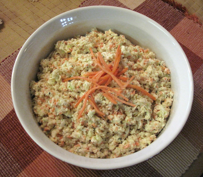 Super Bowl Tri Color Coleslaw