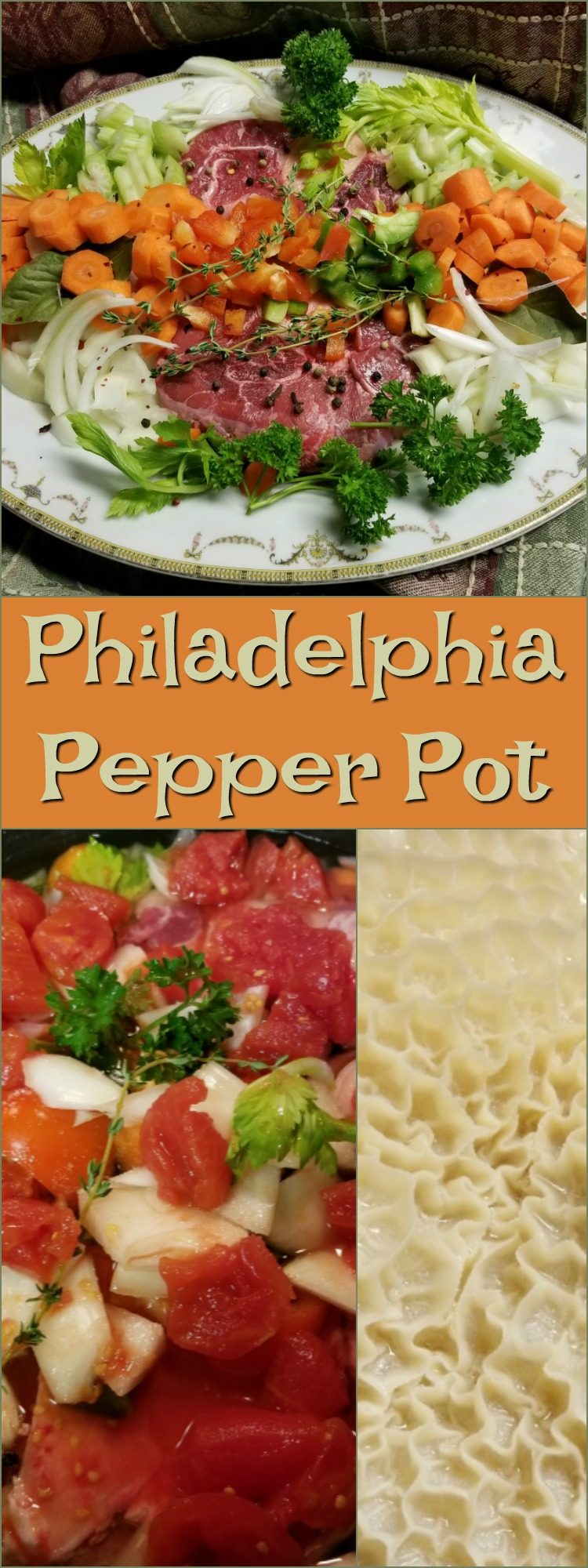 #Philadelphia #pepper pot #soup is the perfect slow cooker recipe! I would still recommend preparing the tripe as I did - separately on a slow simmer for hours on end. The rest of the soup prep can easily be made in the crock pot.  Near the end of the soup and veggies cooking cycle, add the diced tripe.