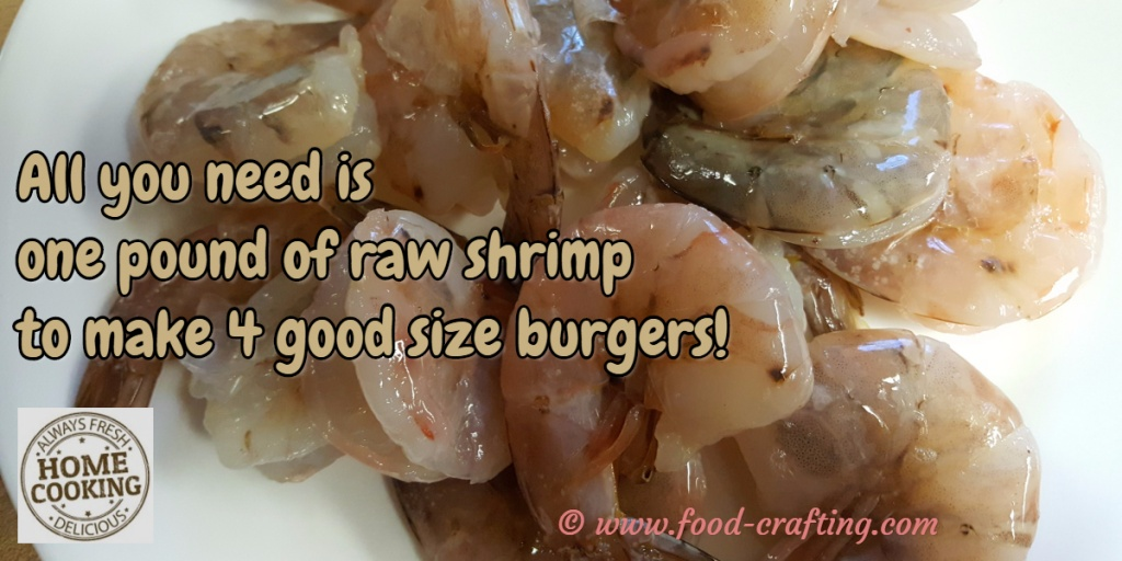grilled shrimp burger recipe - one-pound-shrimp © www.food-crafting.com