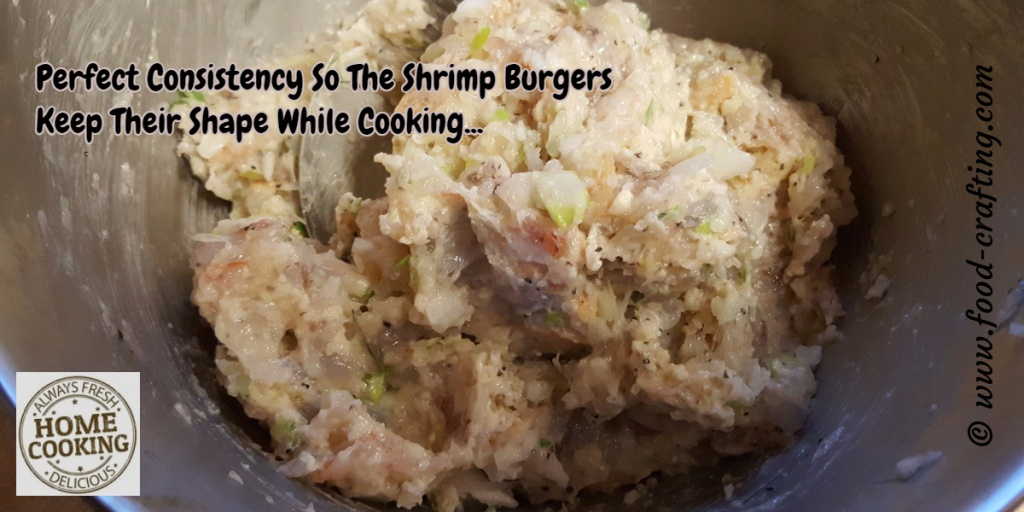 shrimp-mixture - grilled shrimp burgers recipe