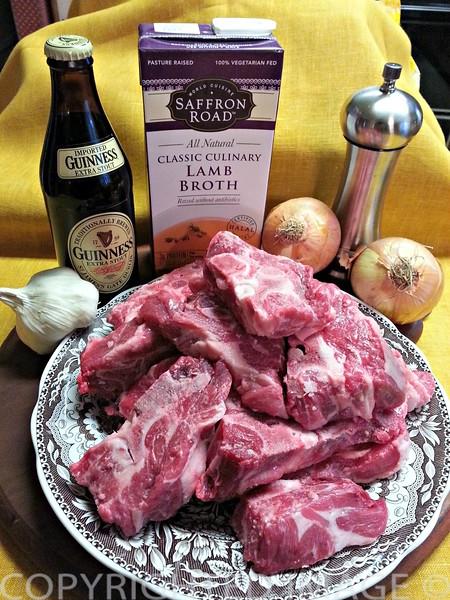 Ingredients - Irish Lamb Stew recipe with Guinness