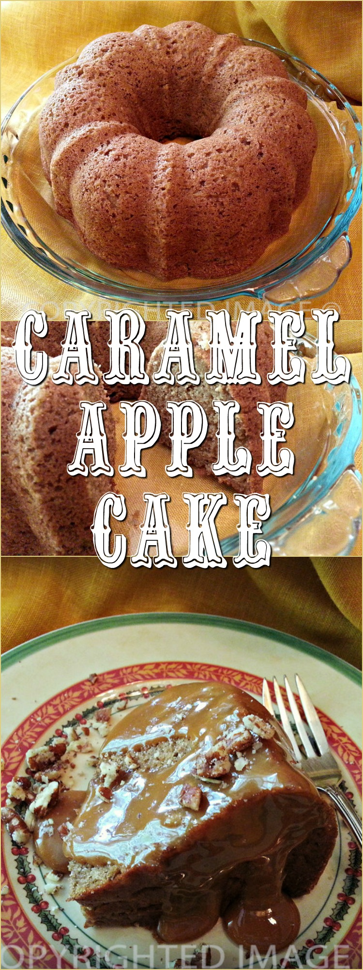 Made an easy caramel apple cake recipe from the Hillbilly Housewife's Just Dessert Cookbook. Cupcakes or cake - its quick & easy to prepare and super delicious!