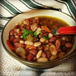 Mixed Bean Ham Soup
