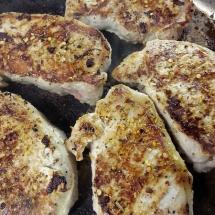 Frugal Teriyaki Pork Dinner - Browning The Meat