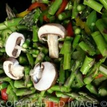 Frugal Teriyaki Pork Dinner - More vegetables!