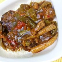 Frugal Teriyaki Pork Dinner - Serving