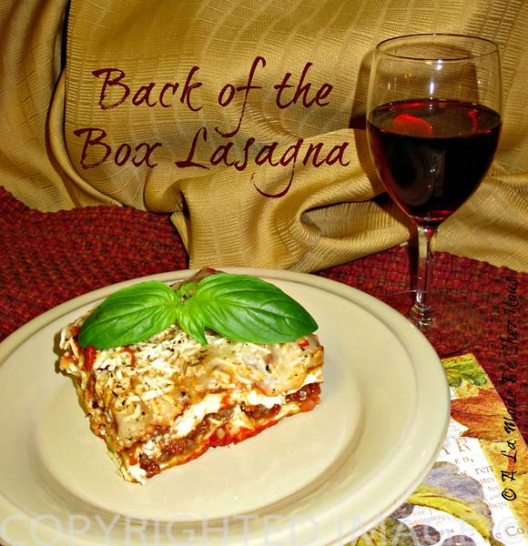 Back of the Box Lasagna