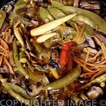 Frugal Teriyaki Pork Dinner - Altogether now...