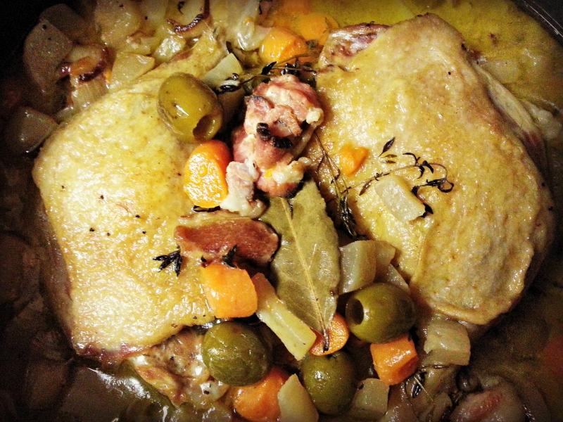 Brome Lake braised duck legs recipe