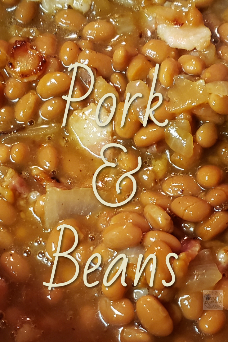 Pork and Beans with or without the chops equal comfort food on chilly days.