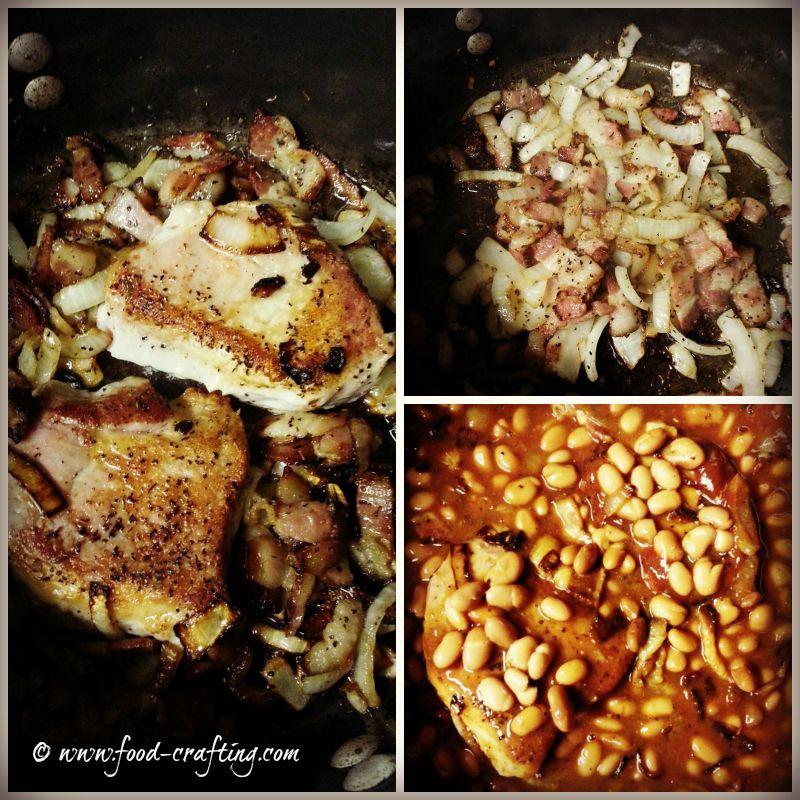 pork nda beans collage
