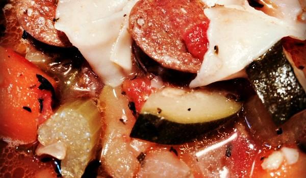 chorizo sausage and vegetables soup