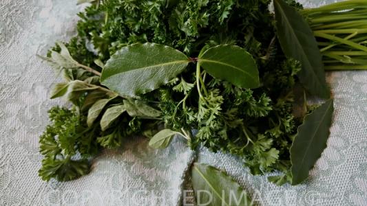 eggplant moussaka recipe - herbs