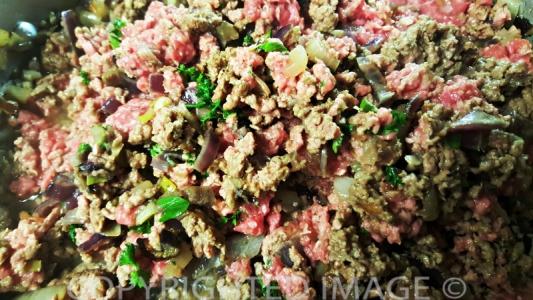 eggplant moussaka recipe - meat sauce