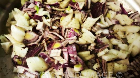 eggplant moussaka recipe - onions