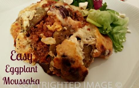 eggplant moussaka recipe - a serving