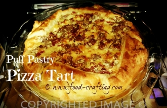 puff pastry pizza tart