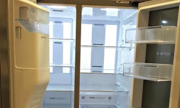 Samsung side by side open doors