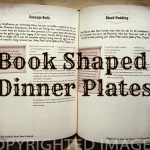 book shaped dinner plates