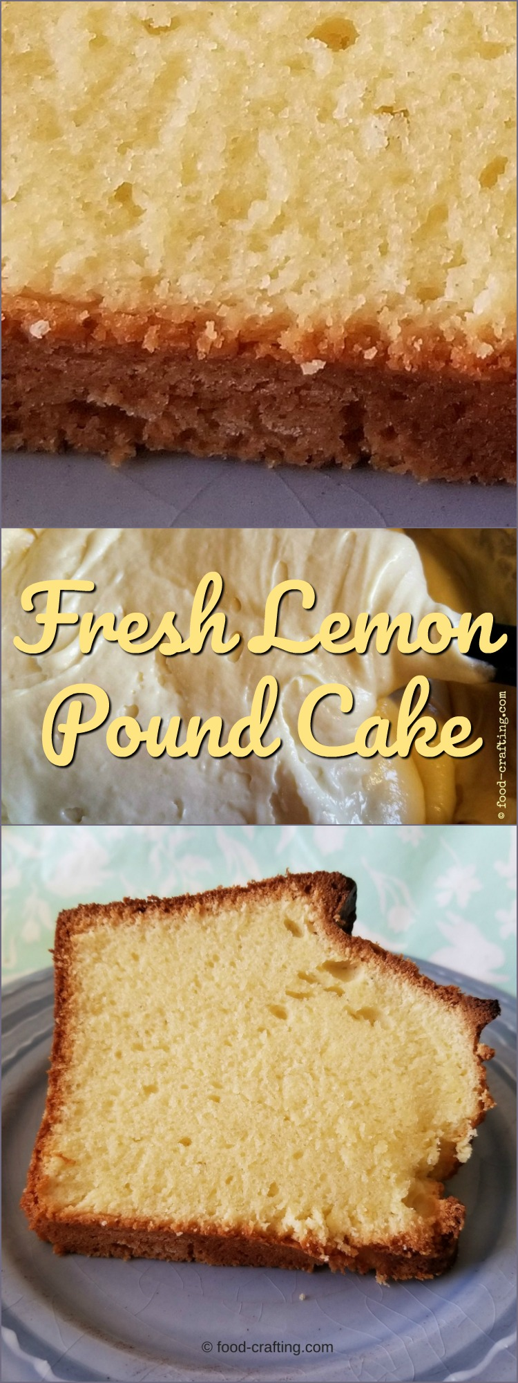 This homemade fresh lemon pound cake is a vintage style classic dessert.