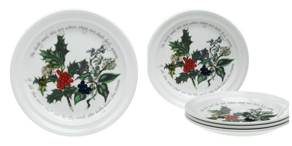 christmas holliday dinnerware sets - holly-ivy-portmeirion