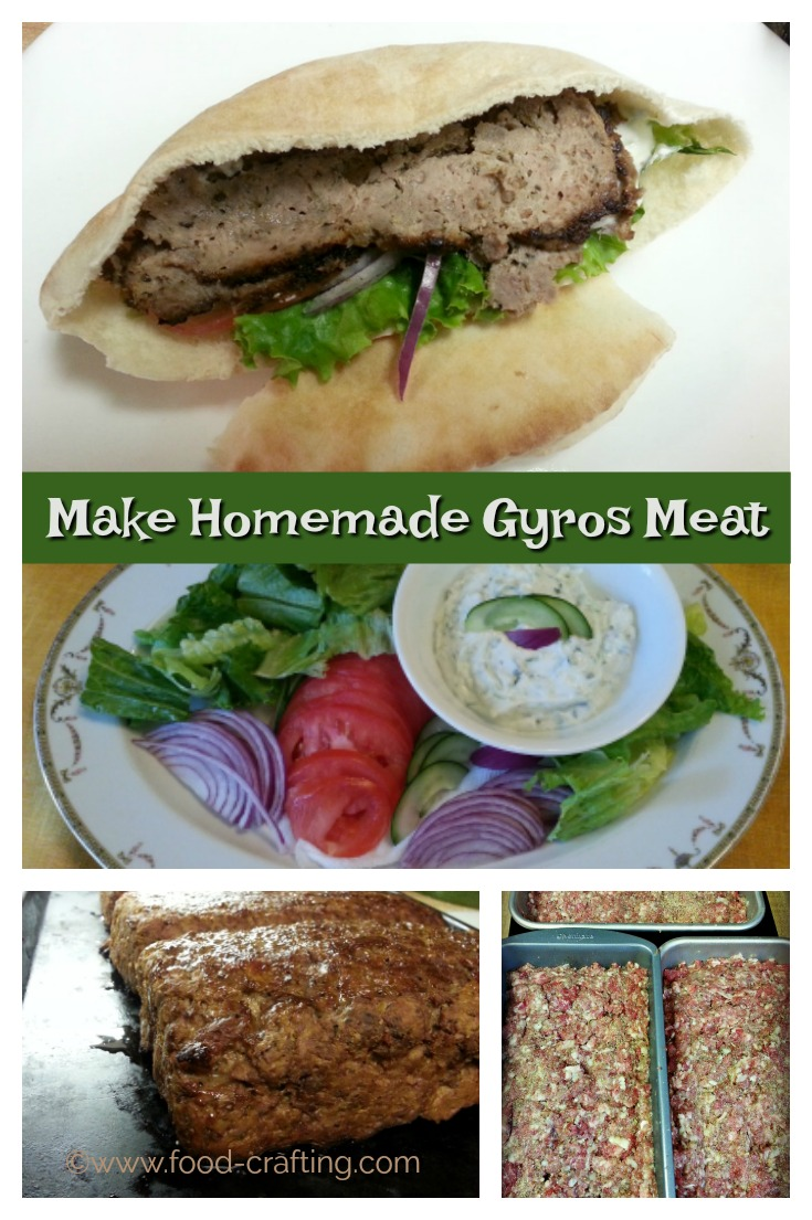 Recipe for homemade gyro meat - Make your own gyro meat at home! I would eat gyros for breakfast, lunch and dinner. Thin slices of minced lamb, beef or chicken grilled on a rotisserie spit.