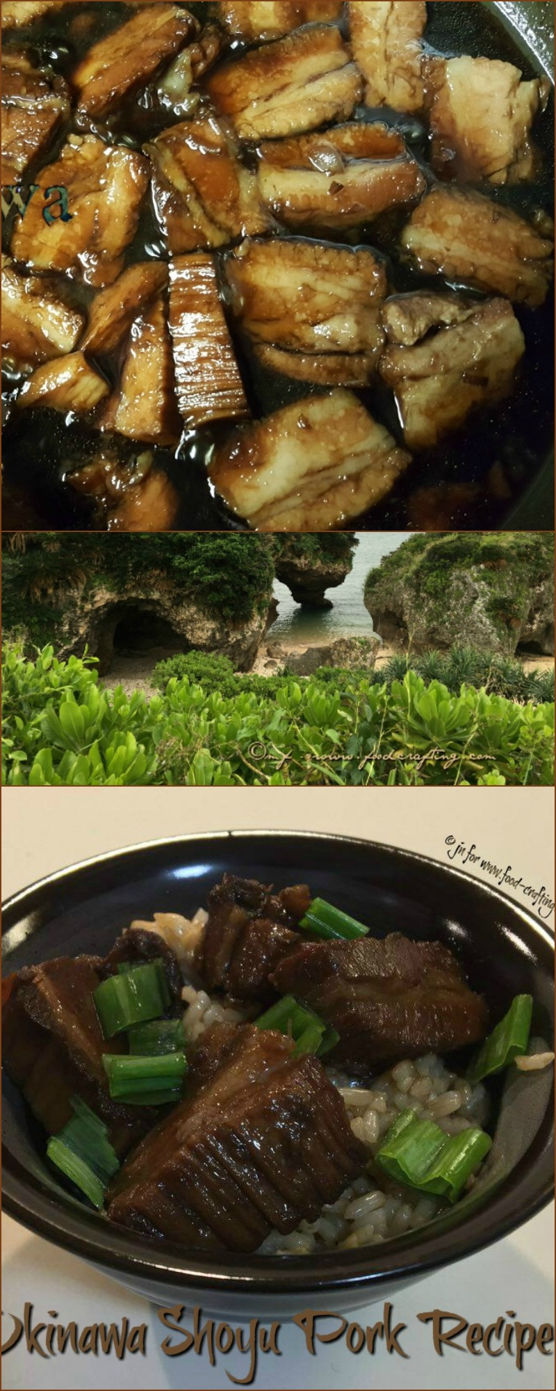 okinawa shoyu pork - Prepare this very #easy #recipe using pork belly. Simmer in a sauce made with shoyu, mirin, sugar, garlic & ginger #brownsugar #japan #mirin