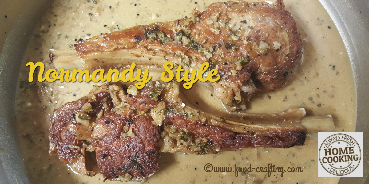 Pan Seared Veal Chops Normandy Style|food-crafting.com