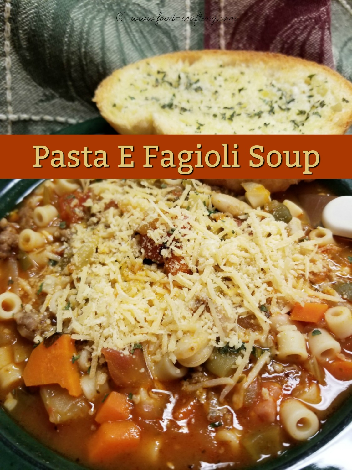 Italian Pasta E Fagioli Soup is the perfect one pot meal. It's a cross between a hearty soup and a bean stew but you can easily tweak it to your own taste!