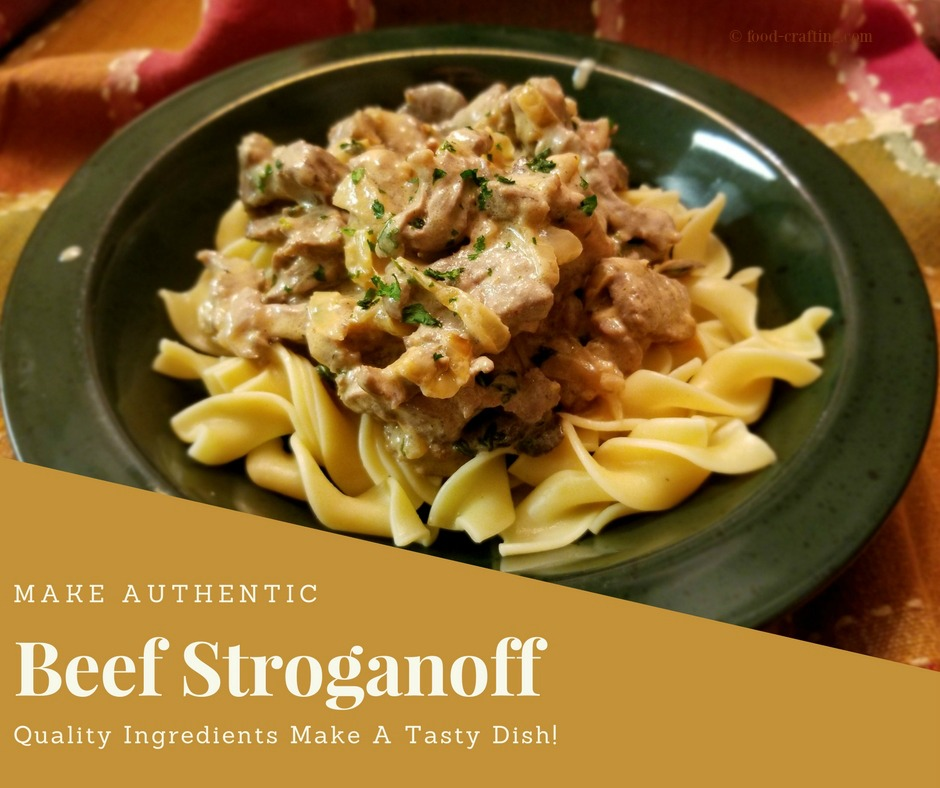 Explore world cuisines - Russian Beef Stroganoff Recipe: Tender strips of seared beef, gently combined with mushrooms and onions sautéed in butter.  Mix in a rich cream sauce with a hint of sherry and serve over buttered noddles. with this recipe for Russian Beef Stroganoff