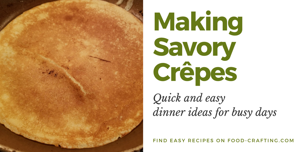 Making savory crêpes for Ficelle Picarde