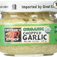 Emperors Kitchen Organic Chopped Garlic, 4.5 Ounce - 12 per case.