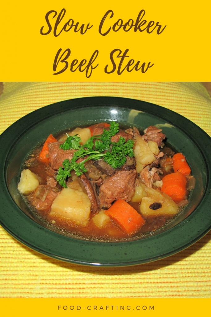 Homemade Slow Cooker Beef Stew - This is just one of the many versions of a crock pot beef stew we prepare during the winter months.