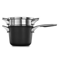 Calphalon Premier Space Saving Nonstick 4.5qt Sauce Pan with Double Boiler