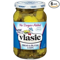 Vlasic Pickle Chips, Bread & Butter, No Sugar Added, 16 Ounce (Pack of 6)